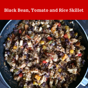 Black bean, tomato, and rice skillet