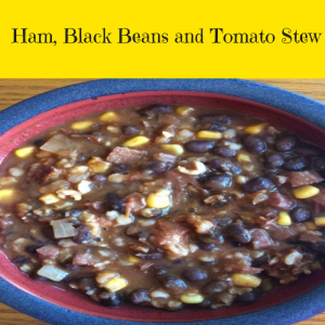 Ham, Black Beans and Tomato Stew