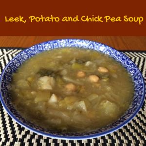 Leek, Potato and Chick Pea Soup