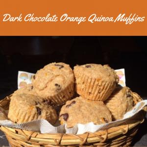 Dark Chocolate Orange Quinoa Muffins